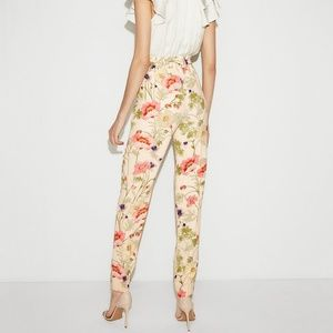 e3c3b91f73c3 Express Pants - EXPRESS High waisted sash tie floral ankle pants